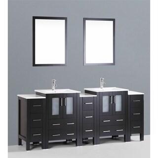Bosconi AB224U3S 84-inch Double Vanity