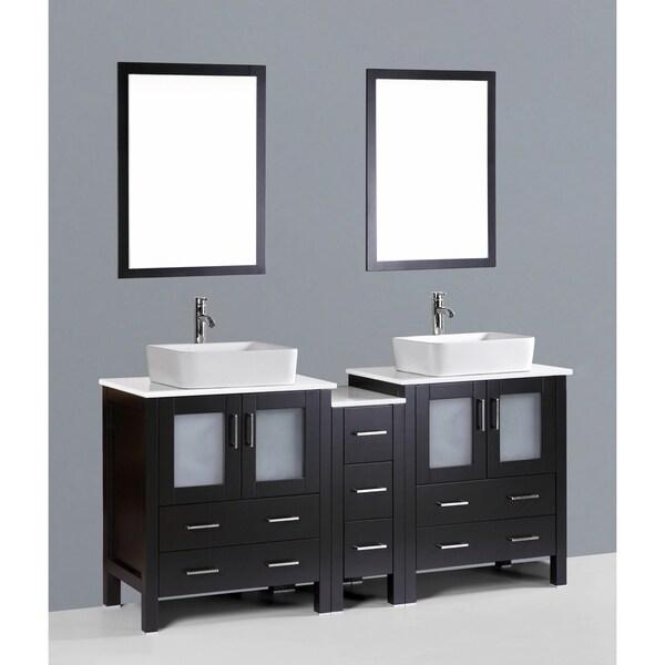 """72"""" Bosconi AB230RC1S Double Vanity"""