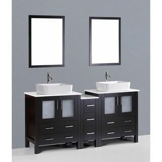 Fresca Torino 72 Inch Espresso Modern Double Sink Bathroom