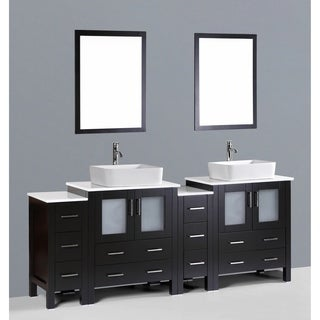 bosconi aw230rc2s 84 inch double vanity with mirrors and faucets