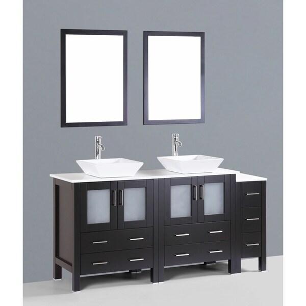 """72"""" Bosconi AB230S1S Double Vanity"""