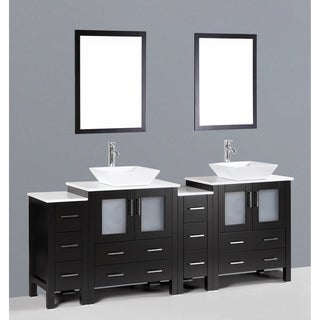 Bosconi AB230S2S 84-inch Oak Double Vanity