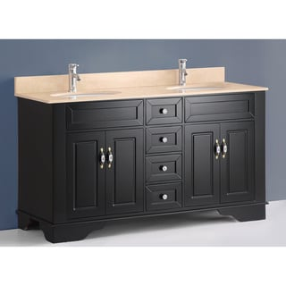 59-inch Bosconi A-5095D Classic Double Black Vanity