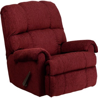 Contemporary Tahoe Bark Chenille Rocker Recliner Chair