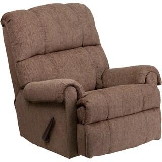 Contemporary Tahoe Bark Chenille Rocker Recliner Chair