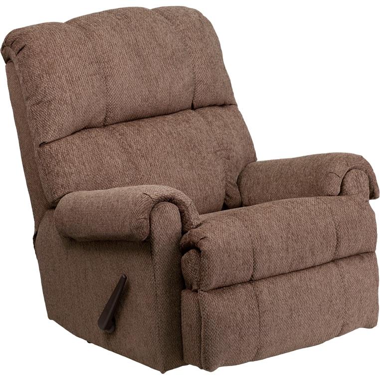 Gentil Clay Alder Home Mackinac Contemporary Tahoe Bark Chenille Rocker Recliner  Chair