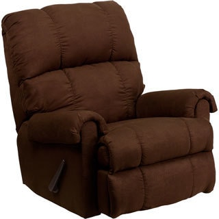 Contemporary Montana Rocker Microfiber Suede Recliner  sc 1 st  Overstock.com & Microfiber Recliner Chairs u0026 Rocking Recliners - Shop The Best ... islam-shia.org