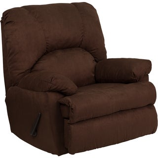 Contemporary Montana Microfiber Suede Rocker Recliner (4 options available)