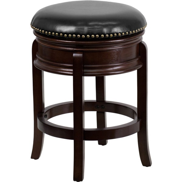 24 inch backless wood counter height stool with leather for 24 inch bar stools