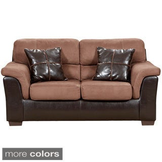 Exceptional Designs Microfiber Loveseat