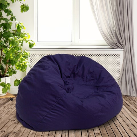 Lancaster Home Solid Cotton Oversized Bean Bag Chair