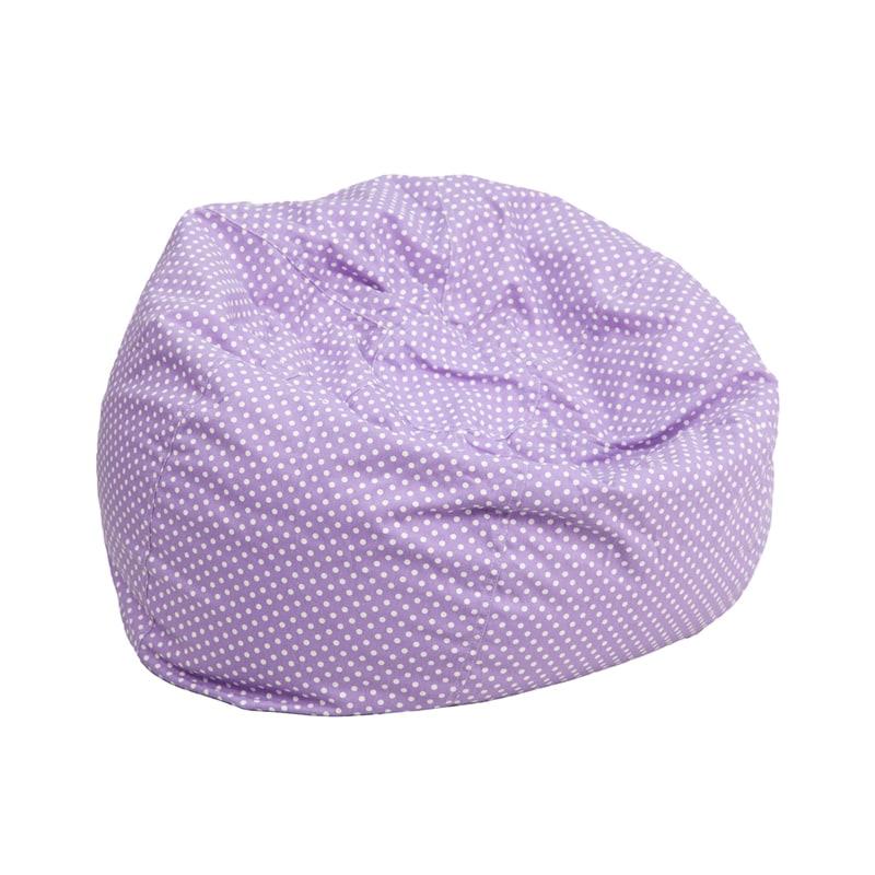 FLASH Furniture Small Dot Kids Bean Bag Chair (Lavender, ...