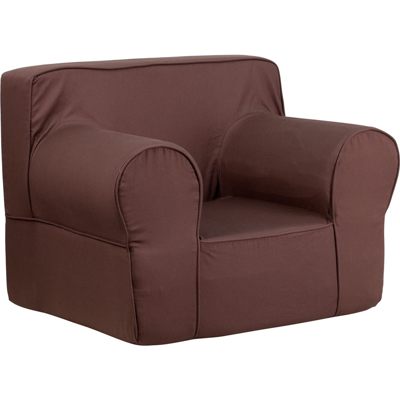 Flash Furniture Oversized Solid Kids Chair (Brown) (Cotton)