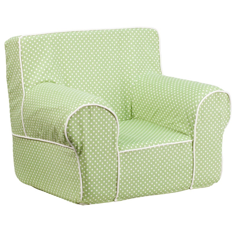 FLASH Furniture Small Dot Kids Chair with Piping (Green, ...