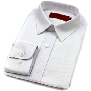 Elie Balleh Brand Boys' White Slim Fit Button-down Shirt