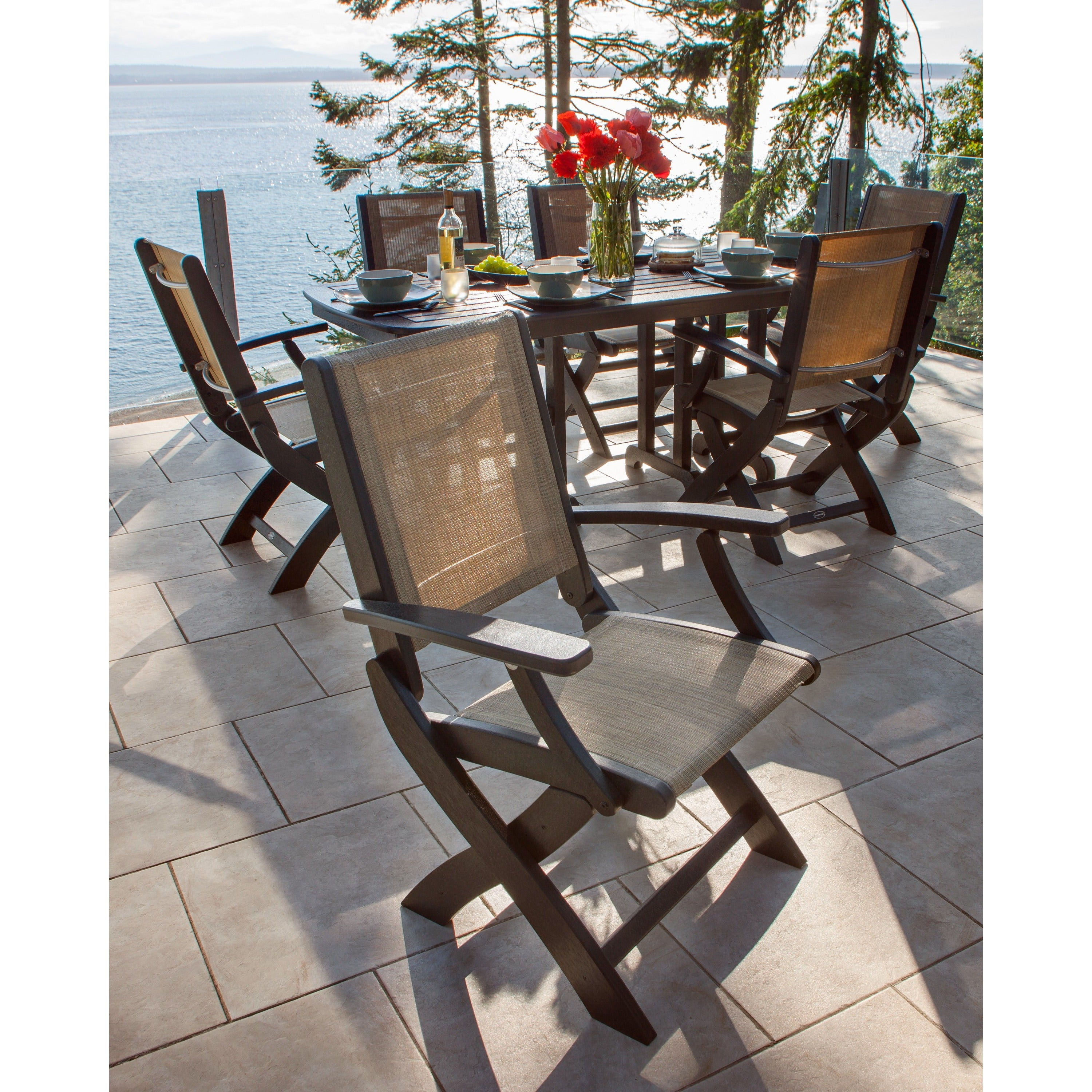 Amazing Polywood Coastal Folding Chair Dailytribune Chair Design For Home Dailytribuneorg