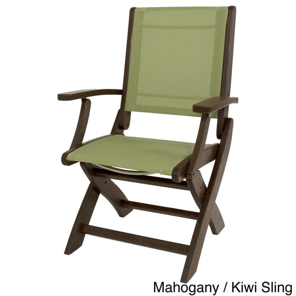 POLYWOOD Coastal Folding Chair   Free Shipping Today   Overstock.com    17231933