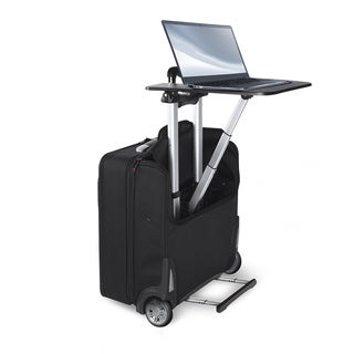Stebco TravelDesk 18-inch Upright Rolling Suitcase with Retractable Mobile Work Station