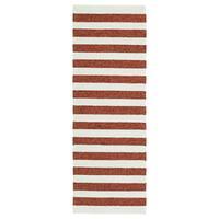 Handmade Indoor/ Outdoor Getaway Paprika Stripes Rug - 2' x 6'