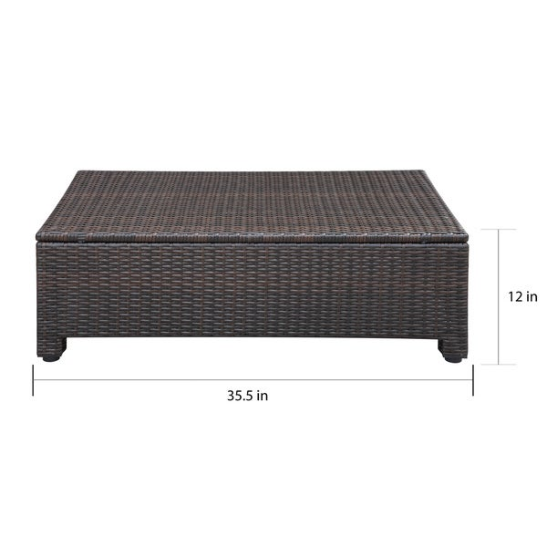 Handy Living Aldrich Brown 5-piece Indoor/ Outdoor Sectional and Table with Reversible Ottoman - Free Shipping Today - Overstock.com - 17231986  sc 1 st  Overstock.com : sectional table - Sectionals, Sofas & Couches