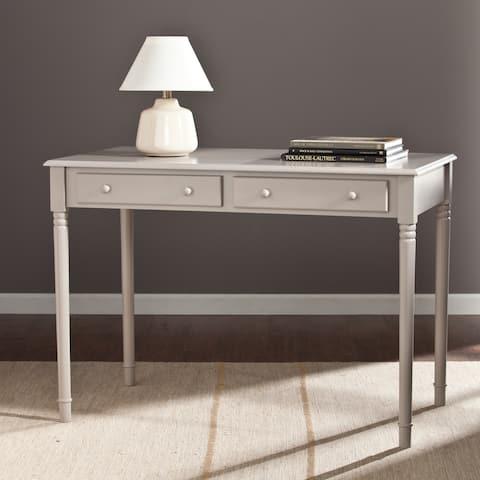 Grisham 2-Drawer Writing Desk Gray