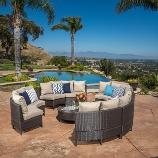 Christopher Knight Home Newton Outdoor 10-piece Brown Wicker Lounge Set