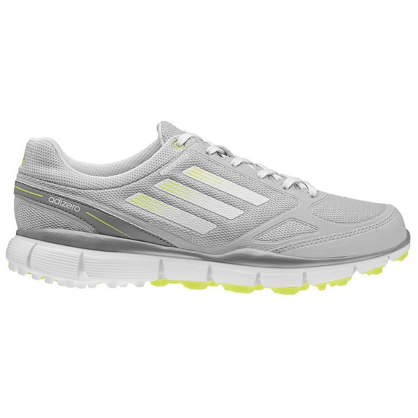 Adidas Womens Adizero Sport II Spikeless Clear Grey-Running White-Electricity Golf Shoes