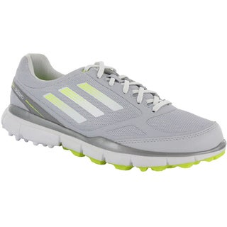Adidas Womens Adizero Sport II Spikeless Clear Grey-Running White-Electricity Golf Shoes (As Is Item)