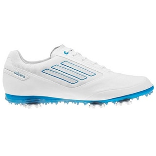 Adidas Womens Adizero Tour II Running White-Solar Blue Golf Shoes