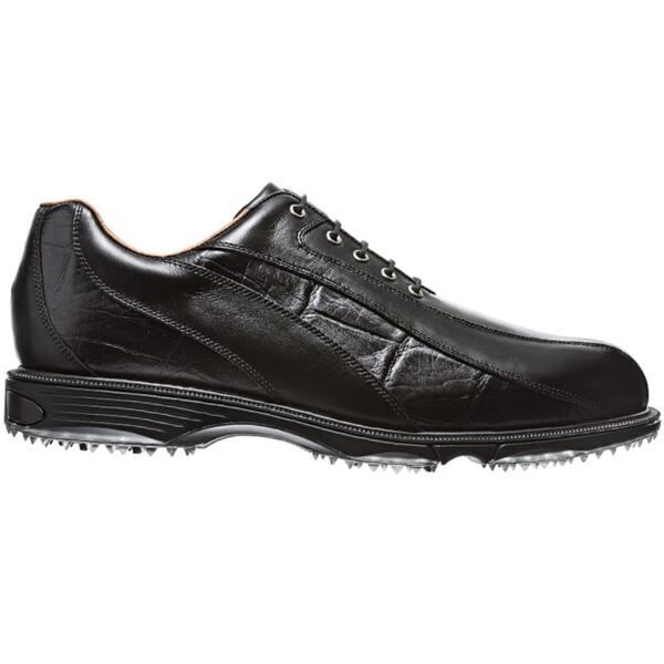Shop Footjoy Men S Fj Icon Wave Spikeless Black Black Croc Print Golf Shoes Overstock 10089769