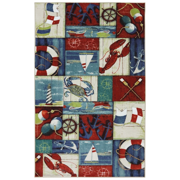 Shop Mohawk Escape N Is For Nautical Rug 5 X 8 Free