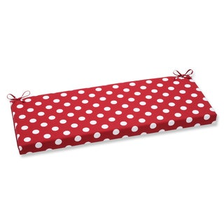 Pillow Perfect Outdoor Polka Dot Red Bench Cushion