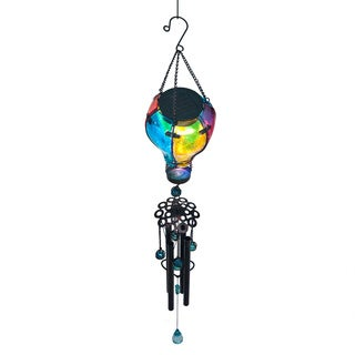 Colored Glass Balloon Solar Wind Chime
