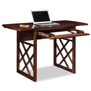 Chocolate Oak Drop Leaf Computer/Writing Desk