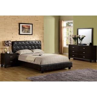 Furniture of America Bai Modern Tufted 4-piece Bedroom Set