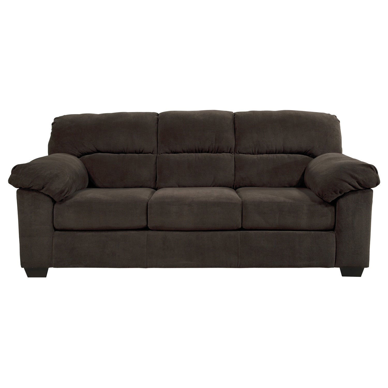 Ashley Zorah Chocolate Sofa (Seating), Brown (Polyester)