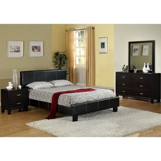 Furniture Of America Geriza Modern 4 Piece Espresso Bedroom Set