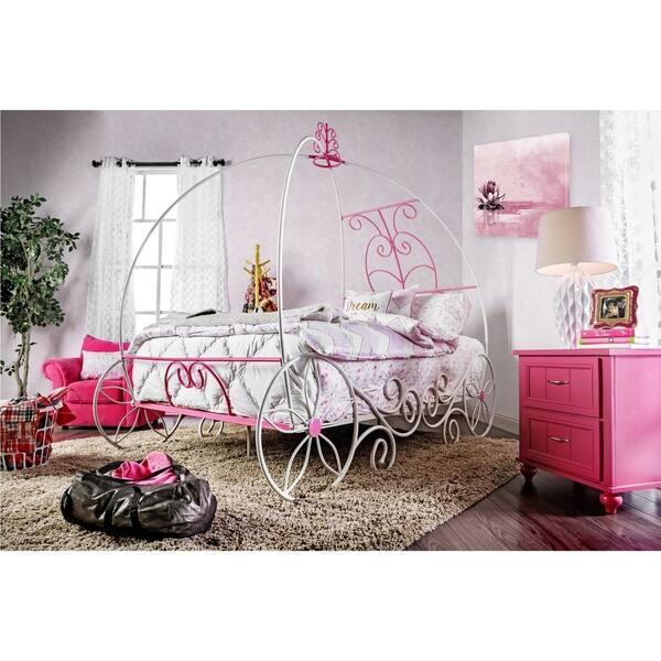 Furniture of America Gess Modern White Twin Metal 2-piece Bedroom Set