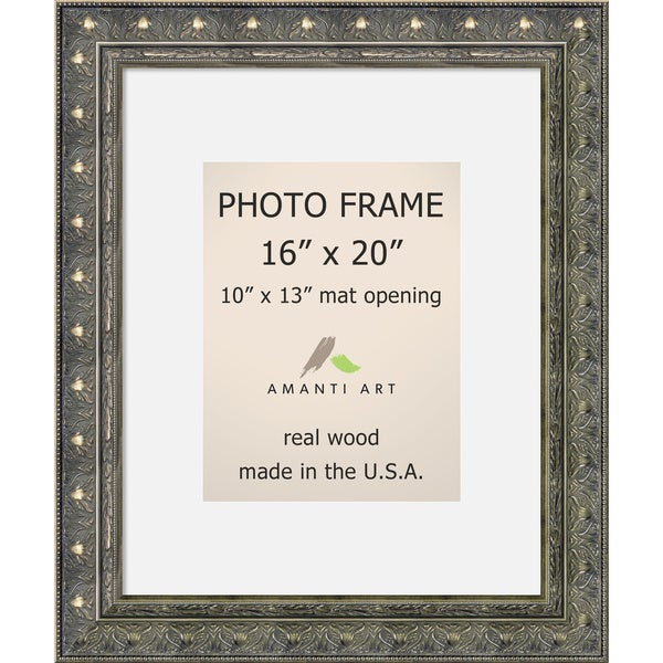 Shop Barcelona Pewter Photo Frame 16x20 Matted To 10x13
