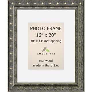 Barcelona Pewter Photo Frame 16x20, Matted to 10x13' 20 x 24-inch