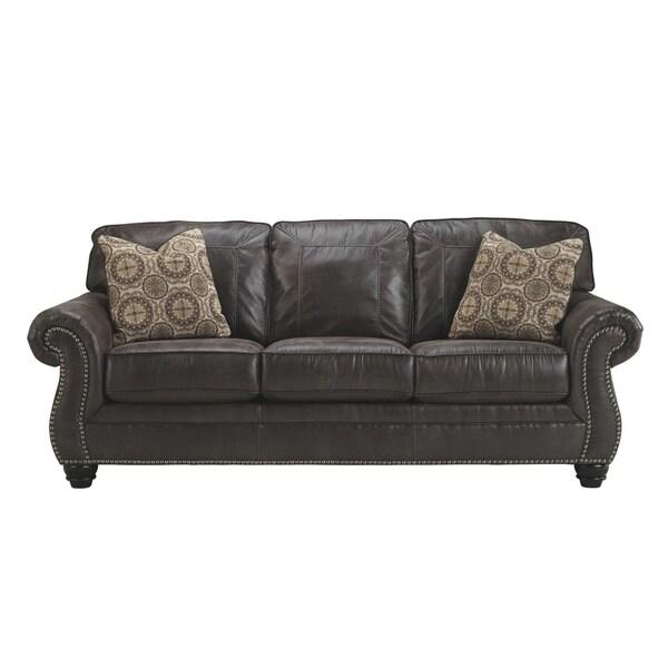 Shop Signature Design By Ashley Breville Charcoal Sofa