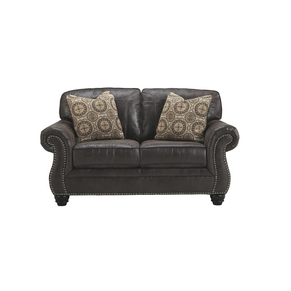 Shop Signature Design By Ashley Breville Charcoal Loveseat