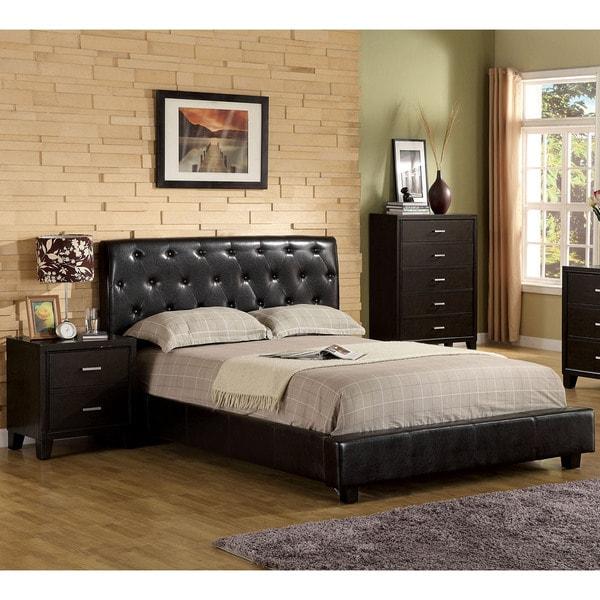 Furniture of America Bai Modern Tufted 3-piece Bedroom Set