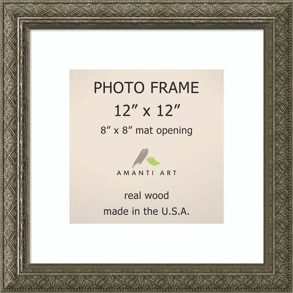 barcelona pewter photo frame 12x12 matted to 8x8 14 x 14 inch