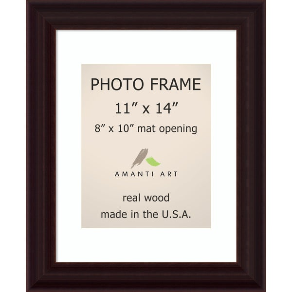Espresso Photo Frame 11x14 Matted To 8x10 14 X 17 Inch