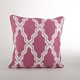 Moroccan Down Filled 18-inch Throw Pillow (Sorbet)