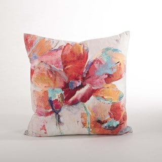 Floral Down Filled 18-inch Throw Pillow