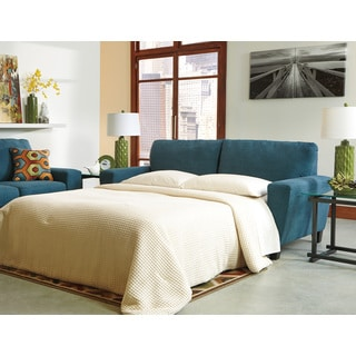 Signature Design by Ashley Sagen Teal Queen Sofa Sleeper