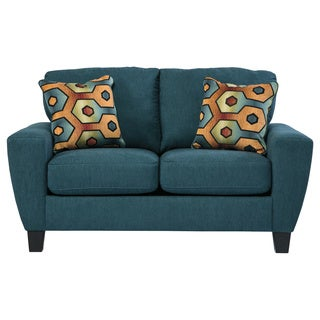 Signature Design by Ashley Sagen Teal Loveseat