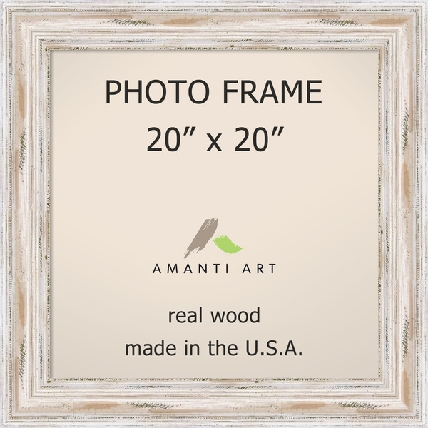 Alexandria Whitewash Photo Frame 20x20' 25 x 25-inch